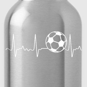 Soccer Heartbeat Shirt - Water Bottle