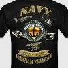 7TH FLEET VN WITH ANCHOR and trident vietnam veter T-Shirts - Men's T-Shirt