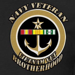 7TH FLEET VN WITH ANCHOR and trident vietnam veter T-Shirts - Men's Premium Long Sleeve T-Shirt