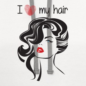 I love my hair ! T-Shirts - Contrast Hoodie