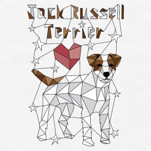 Geometric Jack Russell Terrier Mugs & Drinkware - Men's T-Shirt