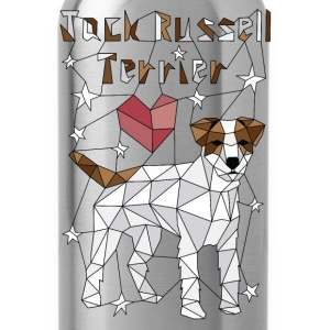 Geometric Jack Russell Terrier Baby Bodysuits - Water Bottle