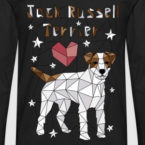 Geometric Jack Russell Terrier Baby Bodysuits - Men's Premium Long Sleeve T-Shirt