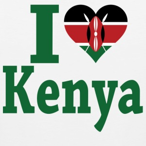 I Love Kenya Flag t-shirt - Men's Premium Tank