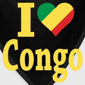I Love Congo Flag t-shirt - Bandana