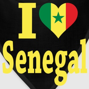 I Love Senegal Flag T-Shirt - Bandana