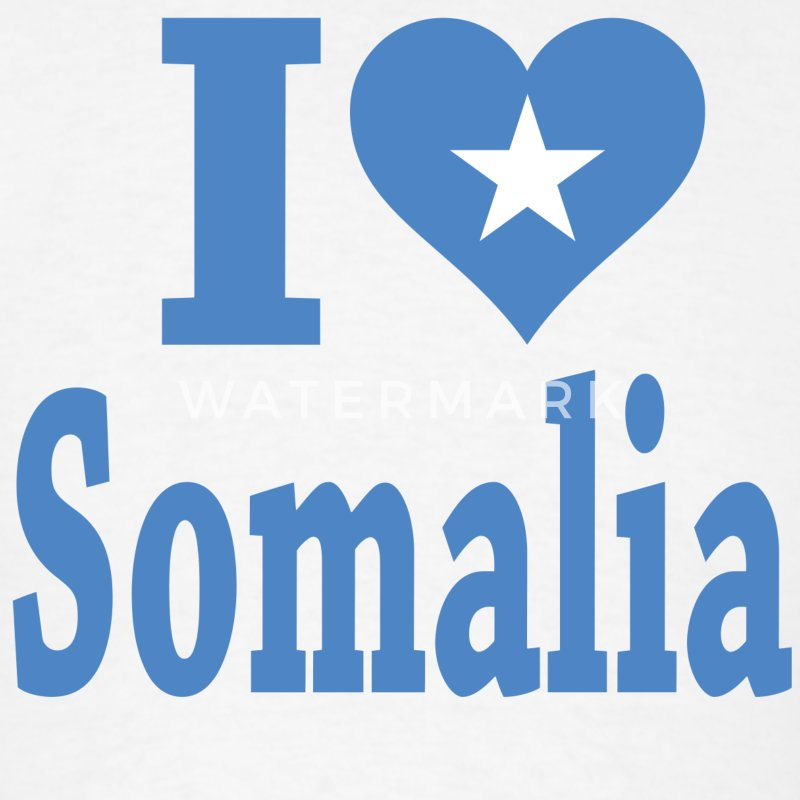 I Love Somalia Flag T-Shirt - Men's T-Shirt
