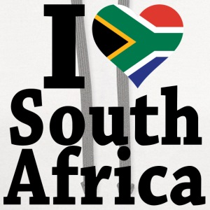 I love South Africa Flag T-Shirt - Contrast Hoodie