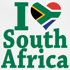 I love South Africa Flag T-Shirt - Adjustable Apron