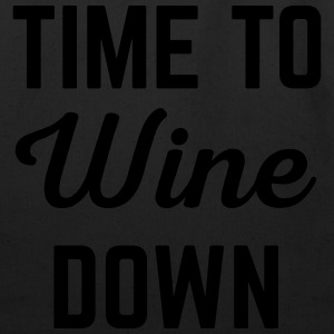 Wine Down Funny Quote T-Shirts - Eco-Friendly Cotton Tote