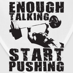 Start Pushing - Bench Press Motivation Hoodies - Bandana