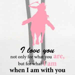 Barrel Horse Silhouette and Rider with Quote T-Shirts - Contrast Hoodie