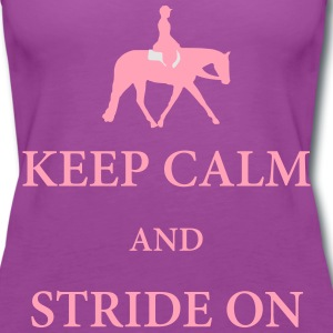 Quarter Horse: Hunter Under Saddle Silhouette  T-Shirts - Women's Premium Tank Top