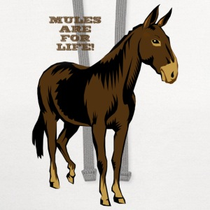 Mules Are For Life! - Contrast Hoodie
