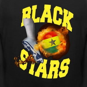 Ghana Black Stars Soccer Ball On Fire t-shirt - Men's Premium Tank