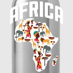 African Heritage with African Map T-Shirt - Water Bottle