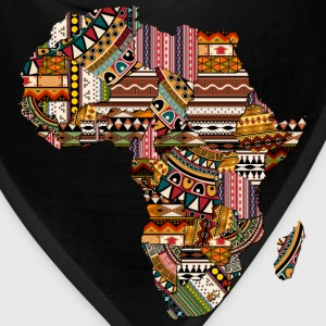 Africa Map with African Pattern T-Shirt - Bandana