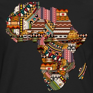 Africa Map with African Pattern T-Shirt - Men's Premium Long Sleeve T-Shirt