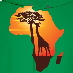 African Giraffe African Safari Africa map  t-shirt - Men's Hoodie