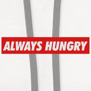 Always hungry Baby Bodysuits - Contrast Hoodie