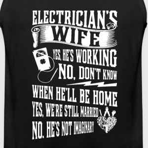 Electrician's Wife Shirt - Men's Premium Tank