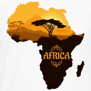 African Safari with Africa map t-shirt - Men's Premium Long Sleeve T-Shirt
