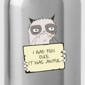 Grumpy Cat Had Fun Once T Shirt - Water Bottle