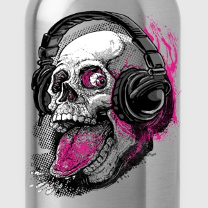 Skull Givin' Raspberry Md - Water Bottle