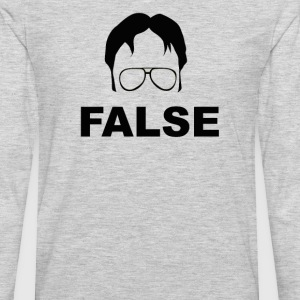 The Office Quote - False - Men's Premium Long Sleeve T-Shirt