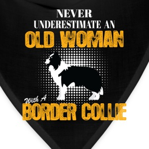Old Woman With A Border Collie T-Shirts - Bandana