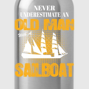 Never Underestimate An Old Man With A Sailboat T-Shirts - Water Bottle