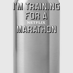 I'm Training For A Netflix Marathon - Water Bottle