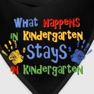 Stays In Kindergarten Kids' Shirts - Bandana