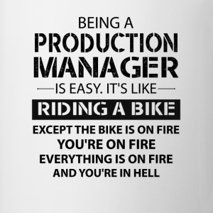 Being A Production Manager Like The Bike On Fire T-Shirts - Coffee/Tea Mug