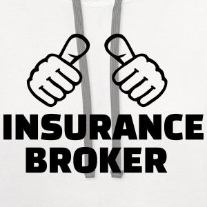 Insurance broker T-Shirts - Contrast Hoodie