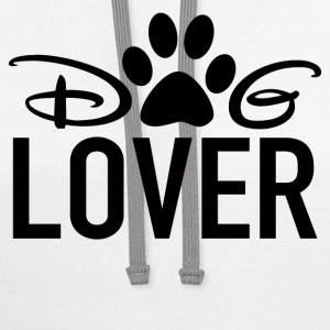 lover,pets,animal,dog - Contrast Hoodie
