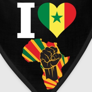 I Love Senegal Flag Africa Black Power T-Shirt - Bandana