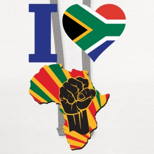 I Love South Africa Flag Africa Black Power T-Shir - Contrast Hoodie