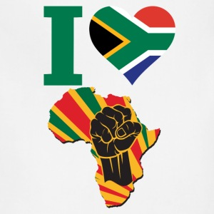 I Love South Africa Flag Africa Black Power T-Shir - Adjustable Apron