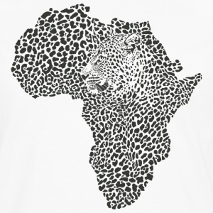 Africa Map With Tiger Head African Safari T-Shirt - Men's Premium Long Sleeve T-Shirt