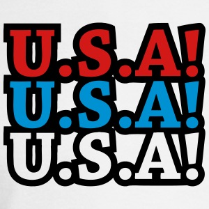U.S.A! U.S.A! U.S.A! (chant) T-Shirts - Men's Long Sleeve T-Shirt