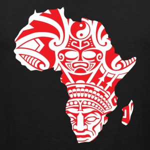 African Traditional Mask In Africa Map T-Shirt - Men's Premium Tank