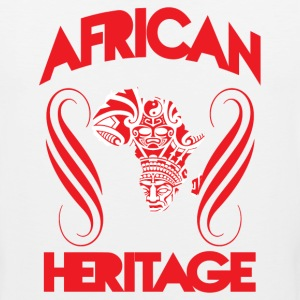 African Heritage with African Map T-Shirt - Men's Premium Tank