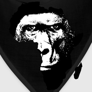 Africa Map With Baboon - Bandana