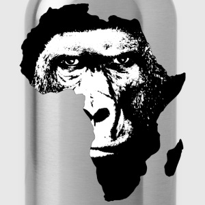 Africa Map With Baboon - Water Bottle