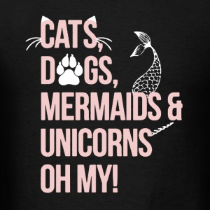 Cat, Dog, Mermaid,Unicorn - Men's T-Shirt