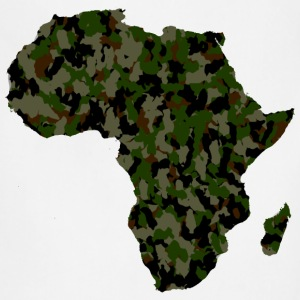 Africa Map Army Camouflage T-Shirt - Adjustable Apron