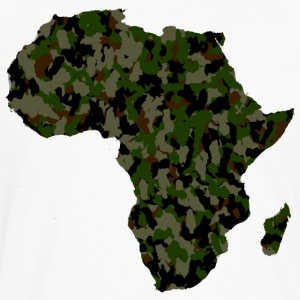 Africa Map Army Camouflage T-Shirt - Men's Premium Long Sleeve T-Shirt