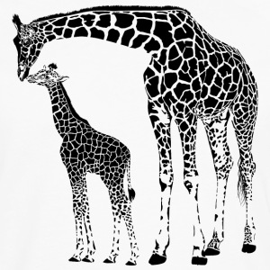 African Giraffe With Sibling T-Shirt - Men's Premium Long Sleeve T-Shirt