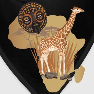 Africa Map With Giraffe T-Shirt - Bandana